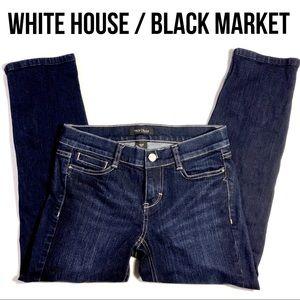 White House Black Market Noir slim Capri Jeans 00